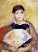 Pierre Renoir Girl with a Fan oil painting picture wholesale