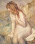 Pierre Renoir Bather on A Rock oil painting picture wholesale