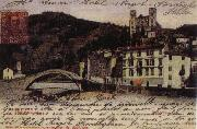 Pierre Renoir View at Dolce Acqua with the Borgho Antico the bridge over the Nervia and the Doria Castle Postcard oil painting picture wholesale