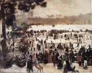 Pierre Renoir Skaters in the Bois de Boulogne oil painting picture wholesale