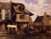 Pierre etienne theodore rousseau A Market in Normandy oil painting picture wholesale