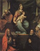 Prado, Blas del The Holy Family,with SS.Ildefonsus and john the Evangelist,and the Master Alonso de Villegas oil painting artist