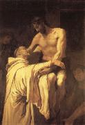 RIBALTA, Francisco Christ Embracing St.Bernard oil painting artist