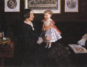 Sir John Everett Millais Mrs James Wyatt Jnr and her Daughter oil painting picture wholesale