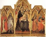 Spinello Aretino Madonna and Child Enthroned with SS.Paulinus,john the Baptist,Andrew,and Matthew oil painting picture wholesale