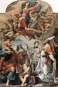 Ubaldo Gandolfi Madonna in Glory and Saints oil painting artist
