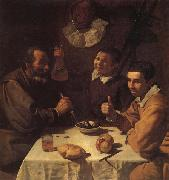 VELAZQUEZ, Diego Rodriguez de Silva y Three Men at a Table oil painting picture wholesale