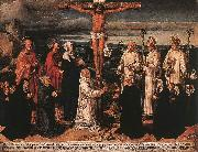 WOENSAM VON WORMS, Anton Christ on the Cross with Carthusian Saints oil painting artist