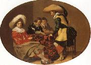 Willem Cornelisz Duyster Officers Playing Backgammon oil painting artist