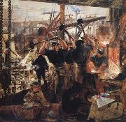William Bell Scott Iron and Coal oil painting artist