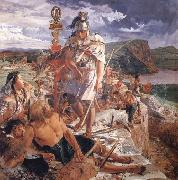 William Bell Scott The Romans Cause a Wall to be Built for the Protection of the South oil painting artist