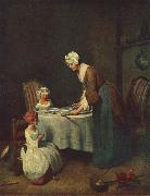 jean-Baptiste-Simeon Chardin The Prayer before Meal oil painting picture wholesale
