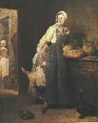 jean-Baptiste-Simeon Chardin Return from the Market oil painting picture wholesale