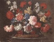 unknow artist Still life of various flowers in a wicker basket,upon a stone ledge oil painting picture wholesale