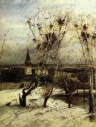 Aleksei Savrasov The Crows are Back oil