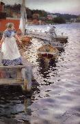 Anders Zorn Vagskvalp(Lappings of the waves) oil painting picture wholesale