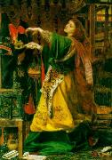 Anthony Frederick Augustus Sandys Morgan Le Fay (Queen of Avalon) oil