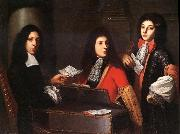 Anton Domenico Gabbiani Portrait of Musicians at the Medici Court oil