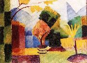 August Macke Garten am Thuner See oil painting picture wholesale