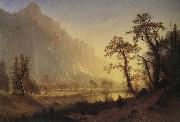 Bierstadt Albert Sunris,Yosemite Valley oil