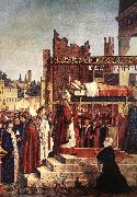 CARPACCIO, Vittore Martyrdom of the Pilgrims and the Funeral of St Ursula (detail) oil painting picture wholesale