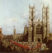 Canaletto Wastminster Abbey with the Procession of the Knights of the Order of Bath oil painting picture wholesale