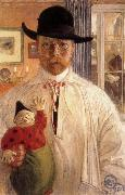 Carl Larsson Self-Portrait oil painting artist