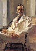 Cecilia Beaux Man with the Cat Portrait of Henry Sturgis Drinker oil painting artist