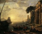 Claude Lorrain Morning in the Harbor oil painting picture wholesale