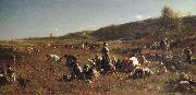 Eastman Johnson THe Cranberry Harvest,Island of Nantucket oil painting artist
