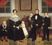 Erastus Salisbury Field Joseph Moore and His Family oil