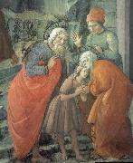 Fra Filippo Lippi Details of St John beids farewell to his parents oil painting picture wholesale