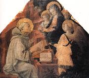 Fra Filippo Lippi St Bernard's Vision of the Virgin oil painting picture wholesale