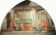 Fra Filippo Lippi The Birth and Naming of  St John the Baptist oil painting picture wholesale