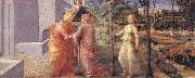 Fra Filippo Lippi The Meeting of Joachim and Anna at the Golden Gate oil painting picture wholesale