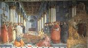 Fra Filippo Lippi The Celebration of the Relics of St Stephen and Part of the Martyrdom of St Stefano oil painting picture wholesale