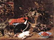 Frans Snyders Hungry Cat with Still Life oil painting picture wholesale