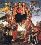 GHIRLANDAIO, Domenico Madonna in Glory with Saints oil painting picture wholesale
