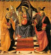 GHIRLANDAIO, Domenico Madonna and Child Enthroned with Saints oil painting picture wholesale