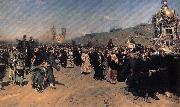 Ilya Repin A Religious Procession in kursk province oil painting artist