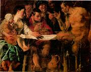 JORDAENS, Jacob The Satyr and the Peasant oil painting picture wholesale