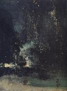 James Abbott McNeil Whistler Nocturne in Black and Gold,The Falling Rocket oil painting reproduction