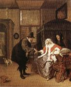 Jan Steen The Lovesick Woman oil painting picture wholesale