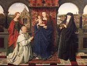 Jan Van Eyck Virgin and child,with saints and donor oil painting picture wholesale