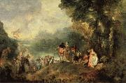 Jean-Antoine Watteau Embarkation from Cythera oil painting picture wholesale