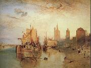 Joseph Mallord William Turner Cologne:The arrival of a packet-boat:evening oil painting picture wholesale