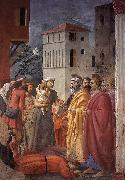 MASACCIO The Distribution of Alms and the Death of Ananias oil painting picture wholesale
