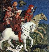 MASTER of the Polling Panels Prince Tassilo Rides to Hunting oil painting