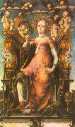 MICHELE PANNONIO Ceres Enthroned oil painting picture wholesale