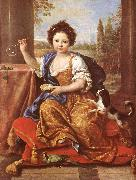 MIGNARD, Pierre Girl Blowing Soap Bubbles oil painting artist